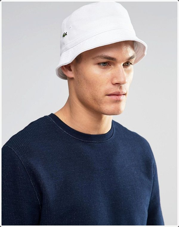 The white cotton bucket hat looks cool on hot 9c90d7f91e6