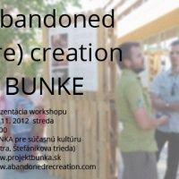Projekt Bunka | Bunka pre súčasnú kultúru