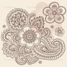 Image result for henna paisley designs