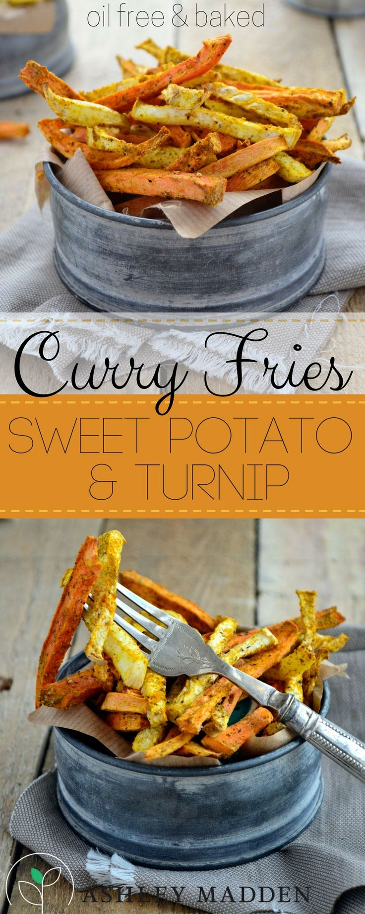 Root veggies make great fries, especially sweet potato and turnip! Topped in…