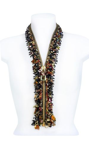 Patricia Kraemer's Zipper with Swarovski crystals. 2007 | 1st place winner Fire Mountain Gems