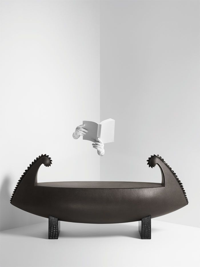 Hermès Petit h - Leather Bench Form Pirogue. #hermes #petith