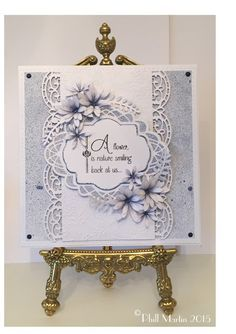 Phills' Crafty Place: Part 2 of ... It all starts with plain white cards...