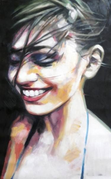 Delightful Smiling Colors By Thomas Saliot. Medium: Oil On Canvas; Awesome Design