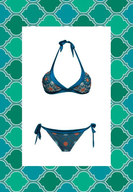 MITOS Starlight bikini in Petrol  #mitoswimwear #bikini #beach #summer #sea #petrol #moroccan #mitos