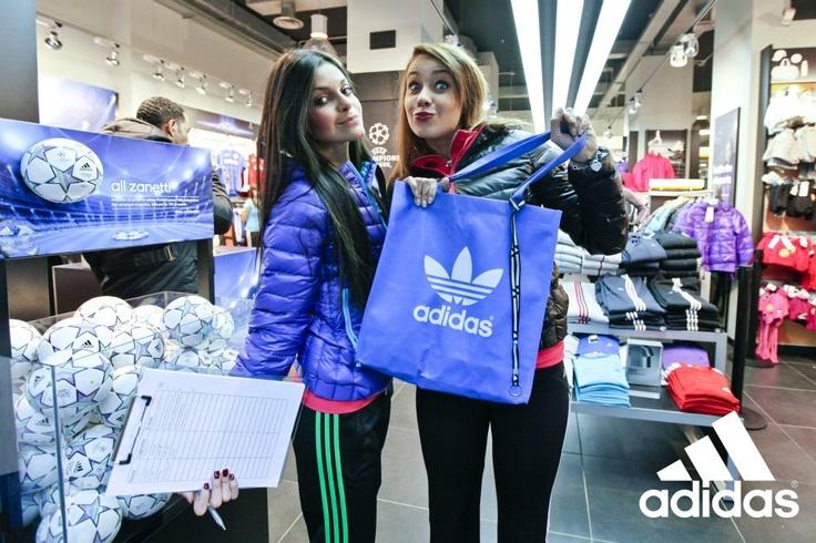 "Girls @adidas Performace Store Milano (25/11/11 Milan,Italy) ""all zanetti"" #inter #uefachampionsleague #adidas #milan #javierzanetti"