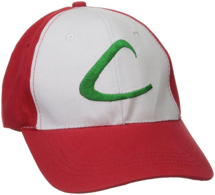 Pokemon Ash Ketchum Trainer Costume Halloween Cap Embroidered Hat One Size NEW #IcetekSports #BaseballCap