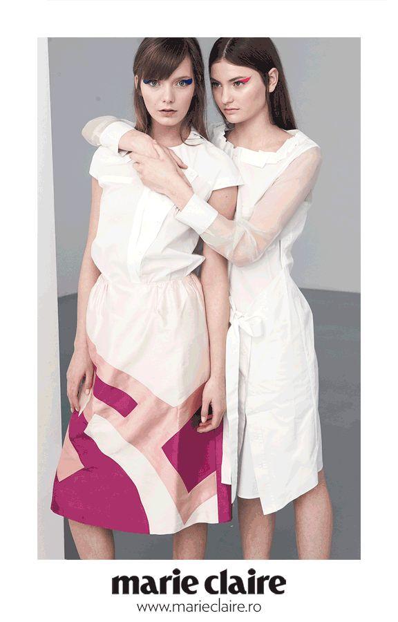 Andrea Tincu white shirt/