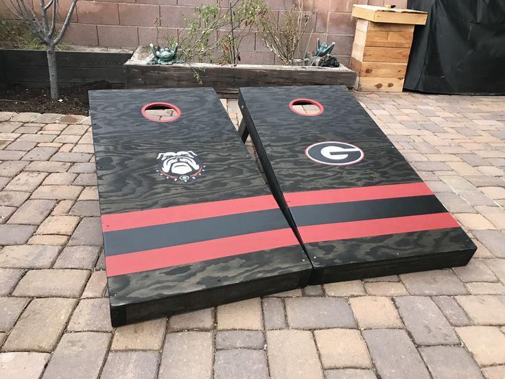 Georgia Bulldogs cornhole boards