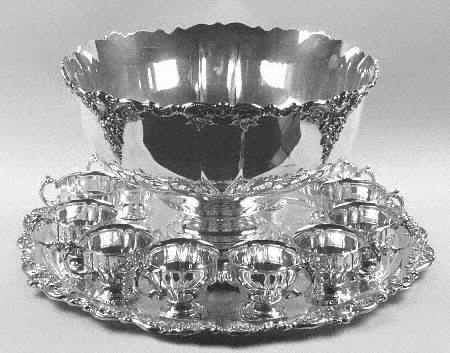 Baroque Silverplate Punch Bowl Set by Wallace & 119 best Punch Bowls u0026 Sets images on Pinterest | Crystals Punch ...