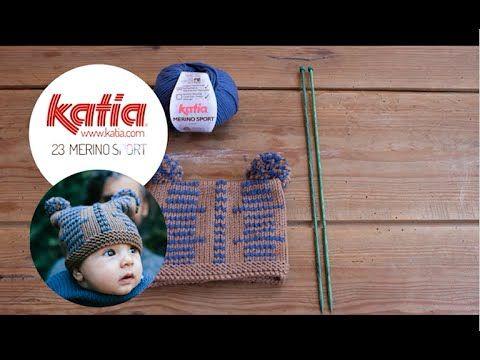 Katia VídeoKAL Septiembre 2015: DIY Merino Sport Gorro Baby | Portaldelabores.com | Portal de labores | Aprender, Crear, Compartir