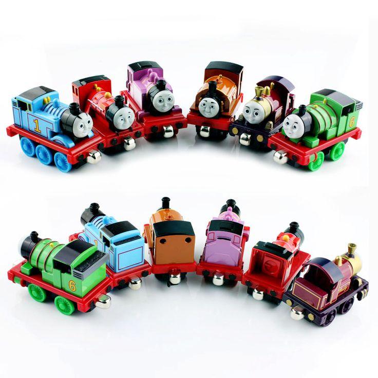 6 stks kinderen thomas en Vrienden thomas trein set de tank motor metalen magnetische tomas auto gegoten speelgoed cars miniaturen geschenken
