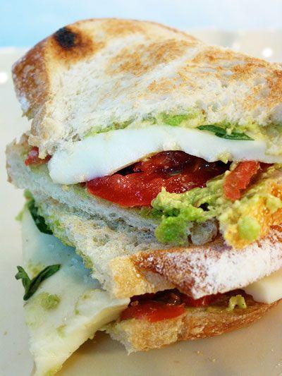 Mozzocado sandwich.