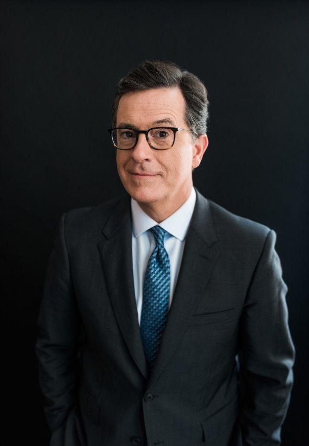 Long live Stephen Colbert.   Witness Stephen Colbert Slide Back Into Character