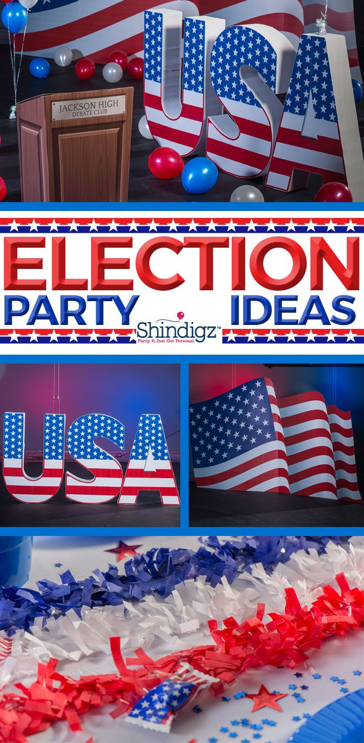 Get ready for a winning campaign with political rally decorations.
