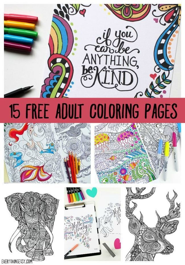 Printable Coloring Pages for Adults {15 Free Designs} | Everything Etsy | Bloglovin'