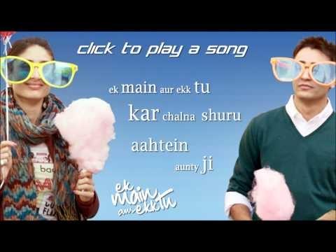 "ek main aur ekk tu full songs"" | Jukebox | Imran Khan | Kareena Kapoor Presenting full songs of 'Ek Main Aur Ekk Tu' one of the most awaited movie of 2012 starring Imran Khan, Kareena Kapoor. Listen to our Jukebox and feed in your comments about the songs of this movie. Ek Main Aur Ekk Tu is a romantic-comedy movie which is...  http://bollywoodhd.raag.fm/2013/03/ek-main-aur-ekk-tu-full-songs-jukebox_15.html"
