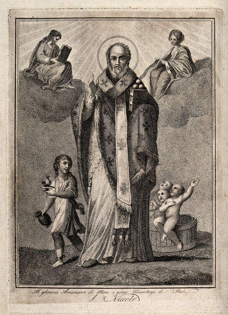 Saint_Nicholas_of_Myra_and_Bari._Engraving._Wellcome