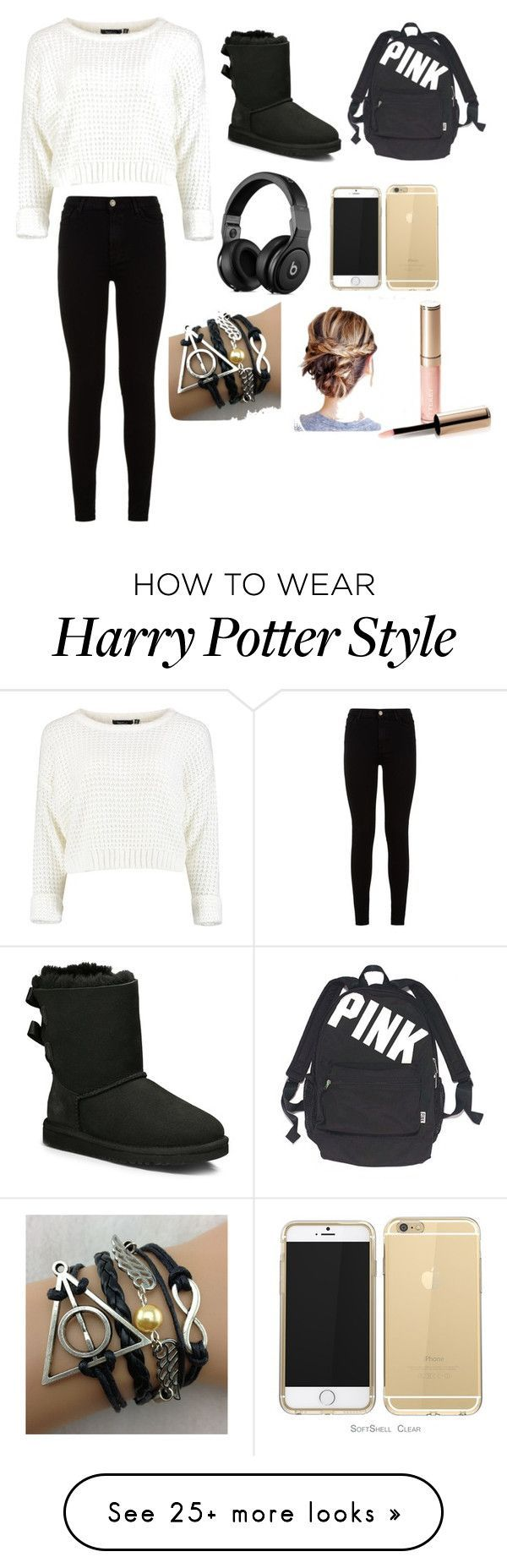 """Untitled #25"" by harrylikescupcakes on Polyvore featuring 7 For All Mankind, UGG Australia, Victoria's Secret and By Terry"