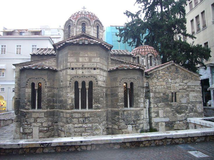 The byzantine church of Kapnikarea, Ermou Street, #Athens Photo on ourtravelpics.com