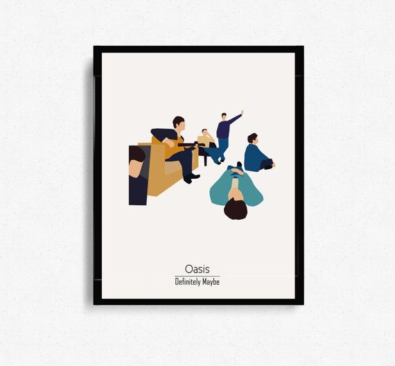 Definitely Maybe by Oasis Album Cover  Music by WilliamsPrints