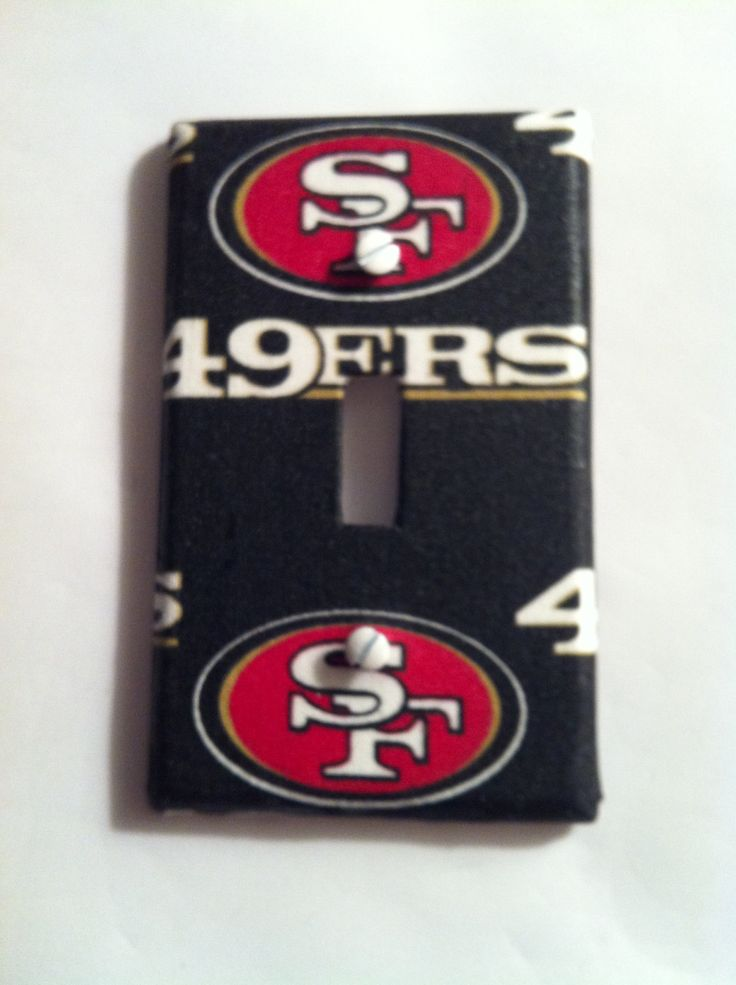 San Francisco 49ers Light Switch Cover, 49ers Fan Cave Man Cave Bedroom Light Switch Plate Cover, Single Double Triple Switch Plate Covers by HochePotBoutique on Etsy