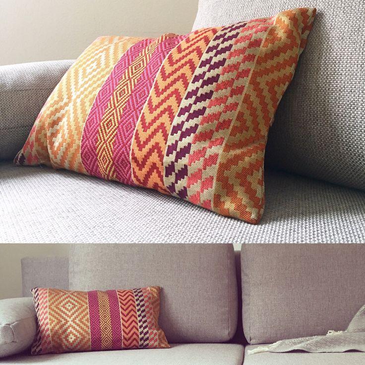 Self-made pillow cover  #self-made #pillow #sewing #design #homedecor #homestyle #fabrics