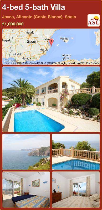 4-bed 5-bath Villa in Javea, Alicante (Costa Blanca), Spain ►€1,000,000 #PropertyForSaleInSpain