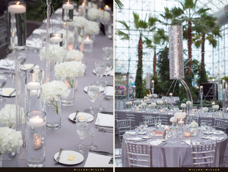 Crystal Clear Chairs Metallic Tall Silver Gray White Reception · Silver  Wedding DecorationsSilver ...