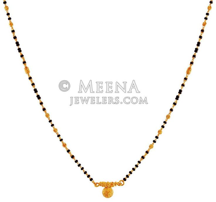 Traditional 22K Mangalsutra - ChMs18093 - US$ 556 - 22K Gold traditional south Indian design Mangalsutra. Mangalsutra is designed with beaded Gold balls