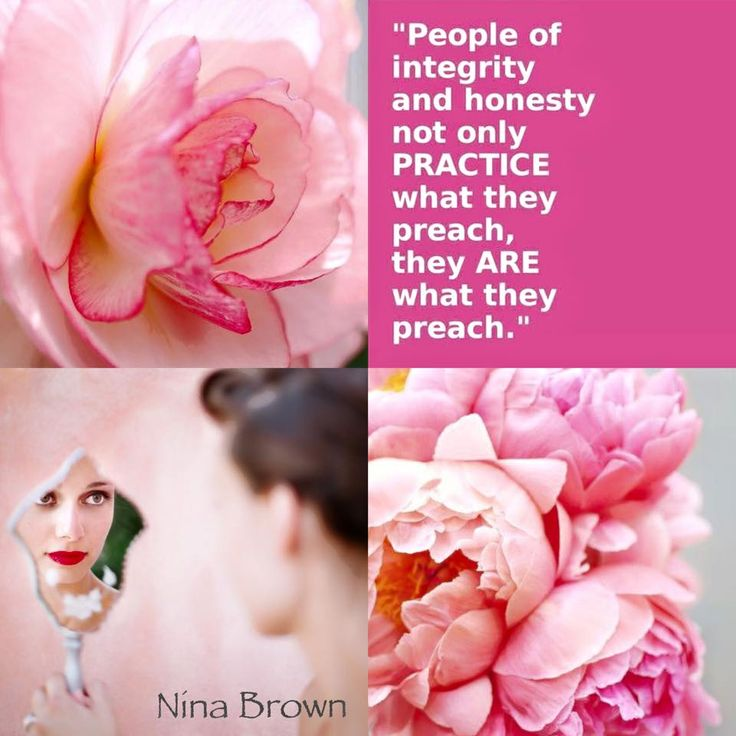 Integrity and Honesty. #integrity #honesty #practicewhatyoupreach #pink www.facebook.com/... www.ninabrown.co.za