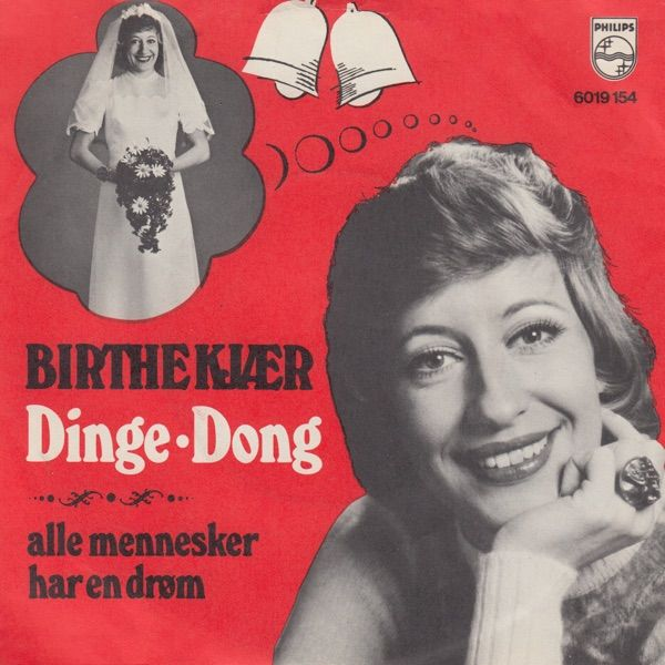 """Dinge dong"" performed by Birthe Kjær. Danish version of the Dutch entry for Eurovision 1975."