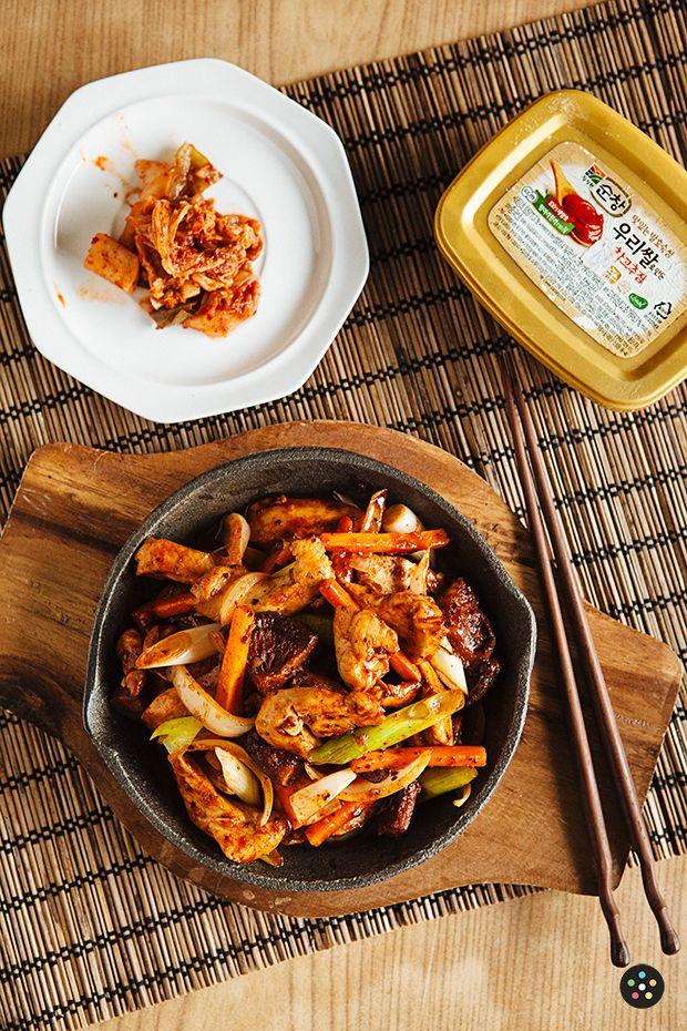 Korean Dak Galbi Recipe!  Yes!  Satisfied my spicy Korean food craving!