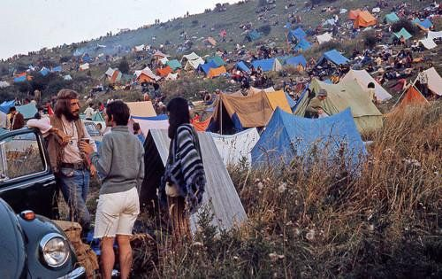 Campers at Woodstock