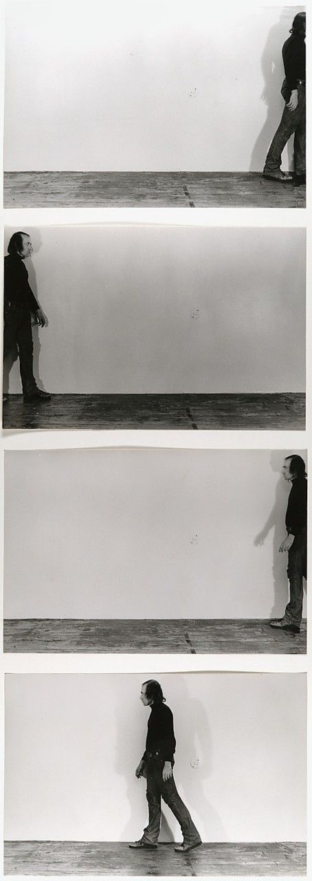 Vito Acconci, A Performance Situation Using Walking, Running, 1969