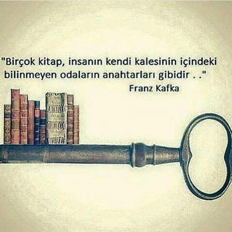 Kitaplar, anahtarlar gibidir.
