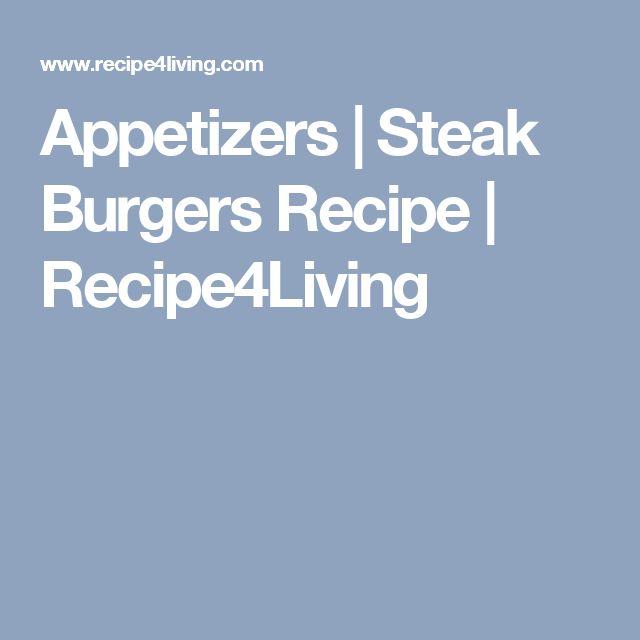 Appetizers | Steak Burgers Recipe | Recipe4Living