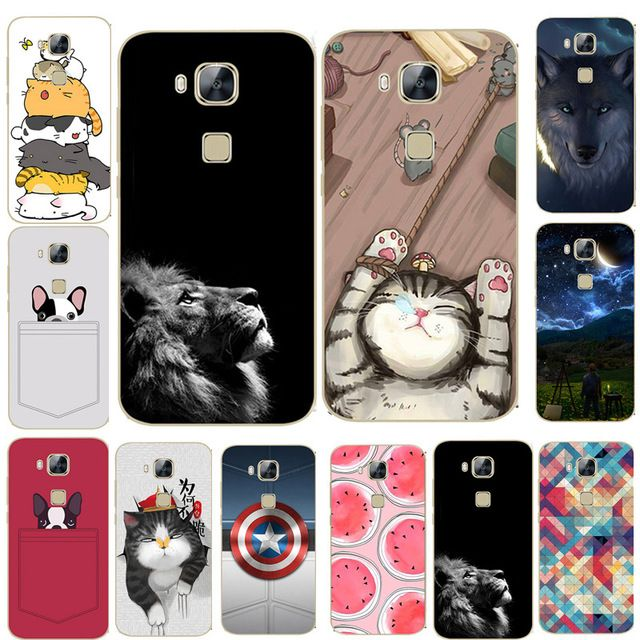 For Huawei GX8 Case 5.5 inch Cover Cat Lion Animal Cartoon Phone ...