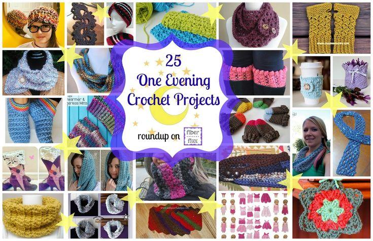 25 One Evening Crochet Patterns!  Roundup on Fiber Flux