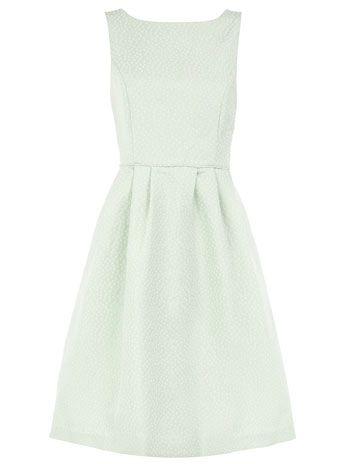 Pale mint dress.