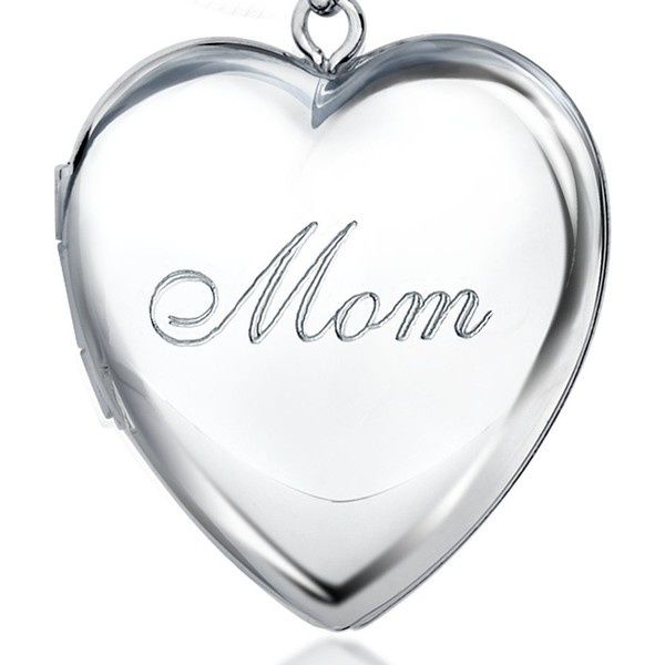 Blue Nile Mom Heart Locket in Sterling Silver found on Polyvore: Heart Lockets