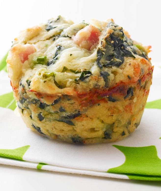 Ham and Spinach Muffins | soooooooooo good! - next time I will double ham and maybe add some shredded pepper jack cheese or cheddar - also used sour cream instead of cottage cheese for lack of flavor