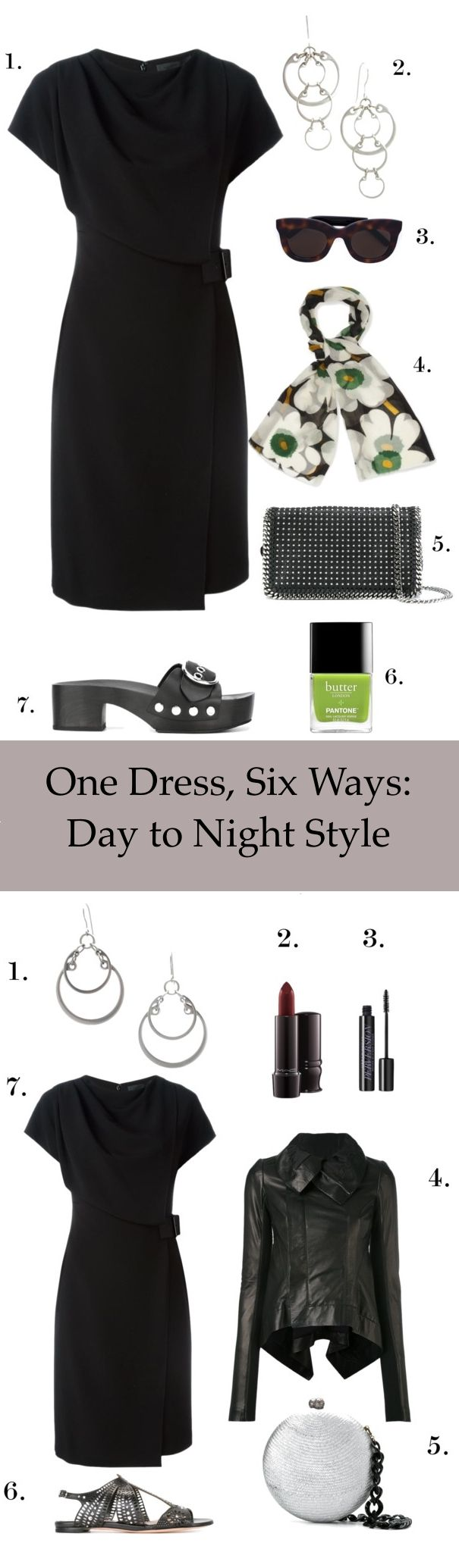 One little black dress, six ways: day to night style | When I'm extra-busy but don't want to sacrifice my style, I opt for  classic basics with fun, seasonally appropriate accessories that are  modern, eclectic, and edgy. These six styling ideas for one classic  little black dress will easily take you from day to night, from the  office to an evening out! Click to see more!