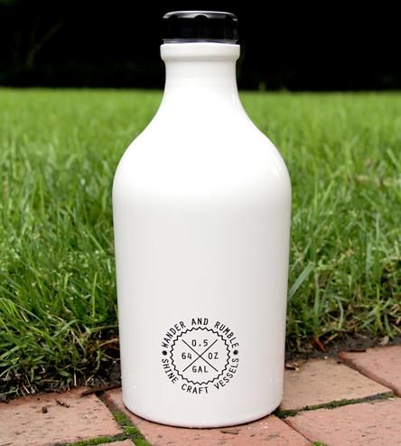 Bright White Steel Growler by Shine Craft Vessel Co. on Scoutmob Shoppe