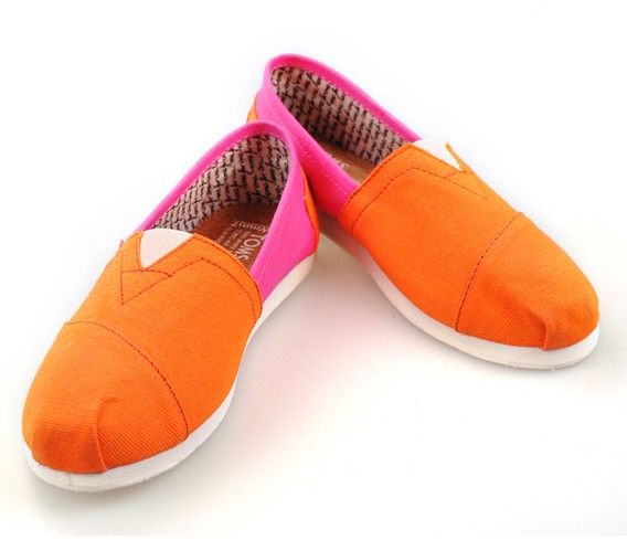 2012 Womens Toms shoes Yellow and Pink wholesale