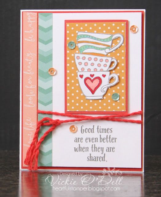 Welcome to our March Stamp of the Month Blog Hop using Close To My Heart's Tea-rriffic stamp set. If you have come from Tamytha Jenk...
