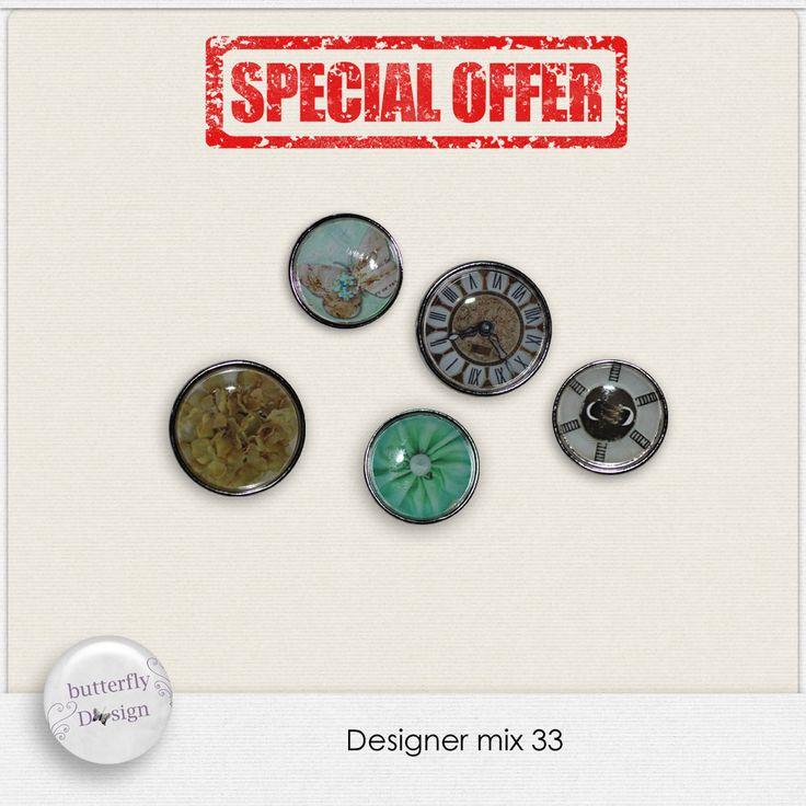 Digital Art :: Mini Value Packs :: Designer mix 33 by butterflyDsign