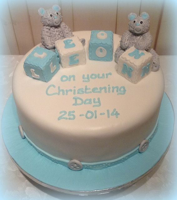 Cannaboe Teddy Christening cake | Flickr - Photo Sharing!