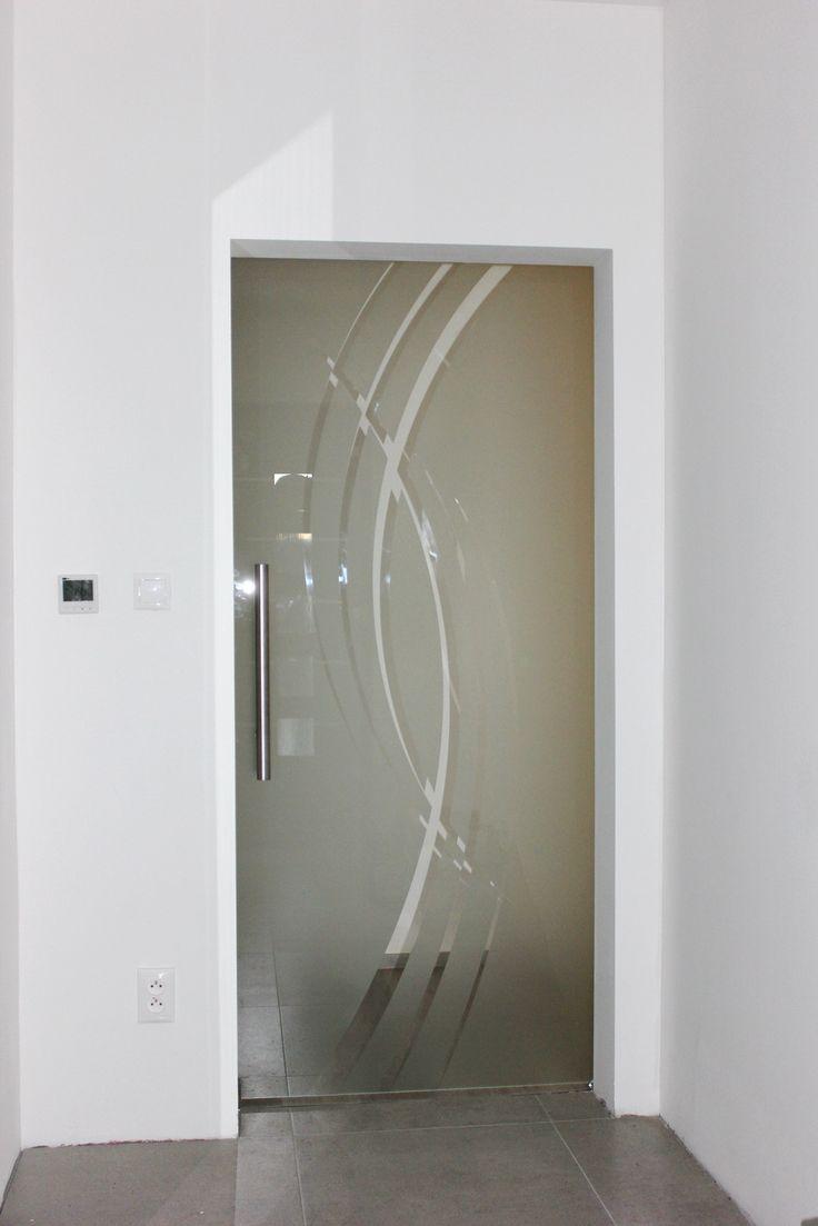Sklenené dvere pieskované Luglass