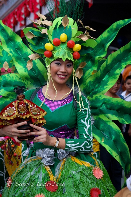 Wild costume created for a Philipines festival.  Woman costume at the Sinulog festival by Sandro_Lacarbona, via Flickr.